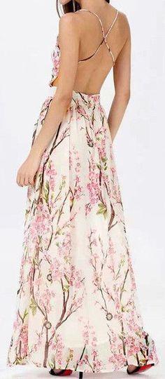 Floral Print Maxi Dress ==