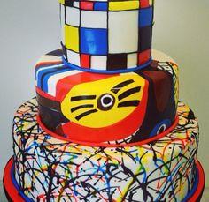 Art cake! Cool!  --Great Dane Bakery