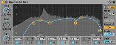 Ableton's EQ Eight audio effect. Ableton Live, You Sound, Audio, How To Apply, Learning, Studying, Teaching