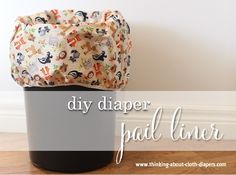 Save money with this quick and easy diaper pail liner tutorial from Thinking About Cloth Diapers.  Here are photos, dimensions, and instructions to help you sew a storage bag for your baby's cloth diapers.