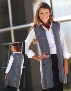 Вязание безрукавки Ash grey из Knitter's 106, 2012