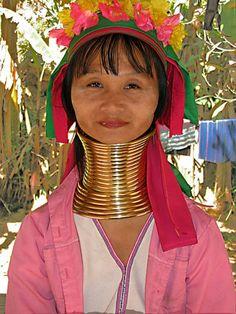 Neck elongation Kareni and Padaung women of Myanmar value.