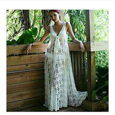 Maxi cover up dress Sexy maxi lace dress. Floor length Rose Dresses Maxi