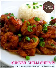 I woke up this morning craving a shrimp stirfry. Remembering the Costco sized bag I have in the freezer, I decided to give this Ginger Shrimp Stir-fry a go! Gluten Free Chilli, Chili Shrimp, Shrimp Stir Fry, Indian Food Recipes, Ethnic Recipes, Asian Recipes, Kitchen Recipes, Tasty Kitchen, Shrimp Recipes