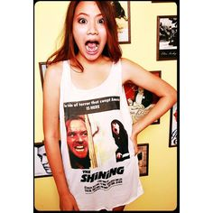The Shining 1980 T Shirt Tank Top Shirts Blouses Ladies Sleeveless... ($15) ❤ liked on Polyvore