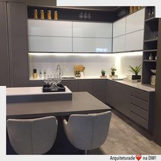 Browse photos of Small kitchen designs. Discover inspiration for your Small kitchen remodel or upgrade with ideas for organization, layout and decor. Kitchen Room Design, Kitchen Cabinet Design, Kitchen Sets, Modern Kitchen Design, Home Decor Kitchen, Interior Design Kitchen, New Kitchen, Taupe Kitchen, Kitchen Cupboard