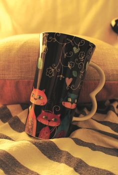 Porcelain XXL Mug with funny cats on the black background from Multiple Choice by Top Choice in Silly Design Poland. High-quality porcelain and unique design! Perfect gift for a morning coffee or afternoon tea... Price 11€