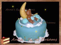 sleeping bear and the moon cake tutorial Торт Спящий мишка