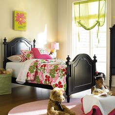 Love the colors in this little girl's room!