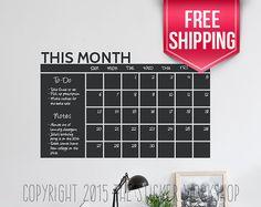 Wall Calendar Decal  Calendar Wall Decal  by StickerWorkshopEtsy