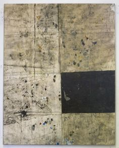 Oscar Murillo, Untitled, oil, oilstick, dirt on canvas