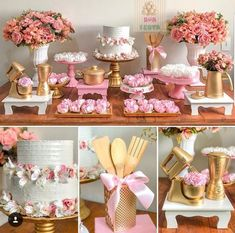 New Shabby Chic Cake Table Ideas Bridal Shower Decorations, Wedding Decorations, Table Decorations, Pasteles Shabby Chic, Shabby Chic Cakes, Shabby Chic Bedroom Furniture, Paper Toy, Kitchen Shower, Birthday