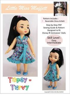 Little Miss Muffett Topsy Turvy Doll Clothes Pattern Disney Animator Dolls…