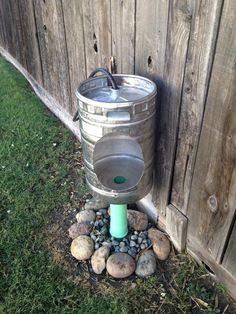 There's a little beer garden in the summertime. Whatever kind of beer you drink, make sure you offer good head on every glass of beer. This one is an easy and inexpensive decor project that you could make in under… Continue Reading → Man Cave Shed, Outdoor Toilet, Outdoor Bathrooms, Cabin Plans, Septic System, Diy Home Decor, Diy Projects, Weekend Projects, Homemade