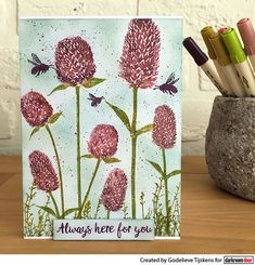 StampingMathilda: Darkroom Door Stamp Set - Warm Wishes Distress Markers, Distress Ink, Merry Mail, Always Here For You, Button Flowers, Flower Cards, Bloom, Warm, Stamp Sets