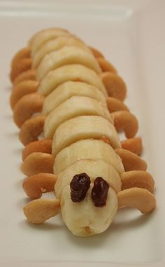 Caterpillar - A fun afternoon snack that your kids will love.