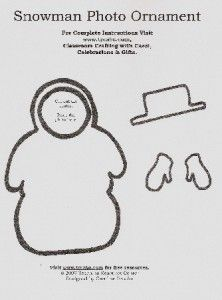 Snowman Photo Ornament Present for Parents - Pinned by @PediaStaff – Please visit http://ht.ly/63sNt for all (hundreds of) our pediatric therapy pins