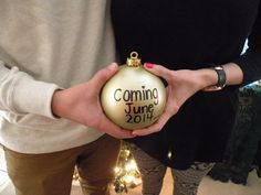 Our Christmas pregnancy reveal picture