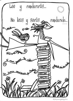 Lee y conducirás Reading Time, Love Reading, Doodle Drawings, Doodle Art, Book Quotes, Art Quotes, Zentangle, Bookstore Design, Teaching Posters