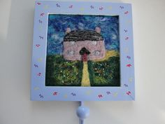 The Cottage - Needle Felt Picture in Hand Painted Frame with Metal Hanging Hook £7.99