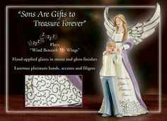 Gift Music Boxes - Forever My Son Heirloom Porcelain Musical Figurine