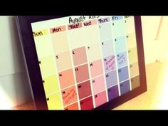 ▶ ‪Back-To-School: DIY Paint Swatches Calendar‬‏ - YouTube