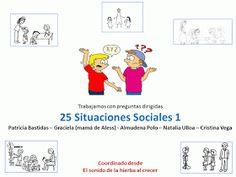 El sonido de la hierba al crecer: Trabajamos 25 situaciones sociales - primera parte Danielson Framework, Autism Spectrum Disorder, Aspergers, My Tea, Social Skills, Speech Therapy, Lesson Plans, Kindergarten, School