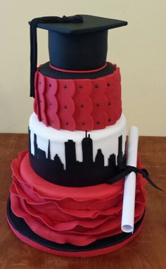 Boston University Graduation Cake