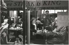 Couple in Cafe window, NYC, 1956 Photo: Frank Paulin