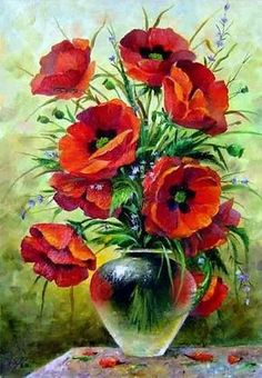 (notitle) - Lady Basil's Inspiring Colors /Reyhan S. - - (notitle) - Lady Basil's Inspiring Colors /Reyhan S. Art Floral, Watercolour Painting, Watercolor Flowers, Images D'art, Flower Oil, Vintage Flowers, Art Pictures, Beautiful Flowers, Art Drawings
