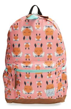 the cutest little fox backpack -Hanna Andersson Water Resistant Backpack | Nordstrom