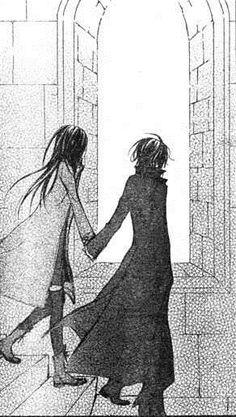 Vampire knight Yuki and Kaname Kuran