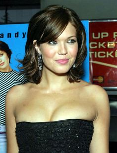 Mandy Moore - not quite this dark brown, but love this cut