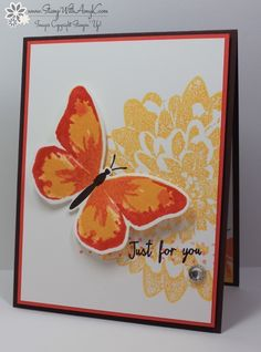 Stampin' Up! Watercolor Wings Fall Butterfly | Stamp With Amy K