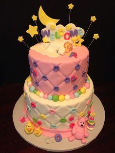 Girl Baby Shower cake by  www.betniebakes.com