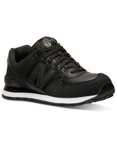New Balance Men's 574 Stealth Nubuck Casual Sneakers from Finish Line · New  Balance NoiresNew Balance HommesLigne D'arrivéeEspadrilles Détentes Chaussures ...