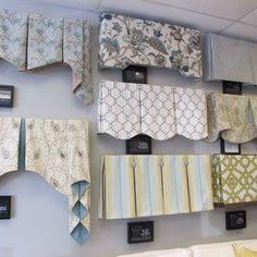 A variety of window treatment valances & cornice boards.   Yelp