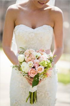 soft white and pink rose bouquet by occasions by emily