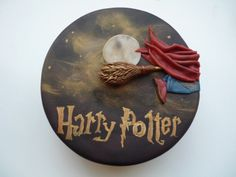 harry potter cake flying on firebolt Gateau Harry Potter, Harry Potter Fiesta, Cumpleaños Harry Potter, Harry Potter Birthday Cake, My Birthday Cake, Birthday Ideas, Character Cakes, Decorating Supplies, Novelty Cakes