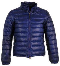 Doudoune matelassée col montant - Armani Jeans - Bleu synthétique
