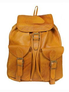 dbe394de930 Leather World Liter Rust Genuine Leather Stylish Backpack with Zip Closure  Travel Bag