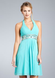 I must have this dress. V-Neck Cocktail Dress With Embellished Waist $69.00  #dress #sue_wong