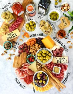 Everything you love about entertaining with tasty Italian antipasti in one larger-than-life gift collection. This awe-inspiring masterpiece stars a vast variety of our best-loved antipasti along with an extraordinary lineup of hand-selected specialty chee Charcuterie Recipes, Charcuterie And Cheese Board, Cheese Boards, Gourmet Burger, Italian Party, Antipasto Platter, Food Platters, Best Breakfast, Appetizer Recipes