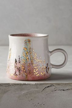 Gold Accent Mug Mug Life Handmade Home Decor Mugs Kitchen Decor