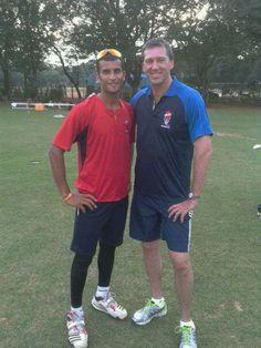 Ishwar Pandey With Mcgrath