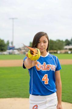 Softball picture. Senior portrait. Softball player. Photo by Anne Ryan Dempsey.