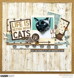 Kaisercraft 'Pawfect' collection Life is better with Cats layout by Julia Akinina - Kaisercraft Official Blog