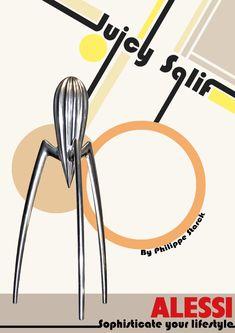 Bauhaus advert for Juicy Salif citrus squeezer designed by Philippe Starck E Design, Icon Design, Bauhaus Art, Philippe Starck, Alessi, Design Thinking, Art School, Branding Design, How To Memorize Things