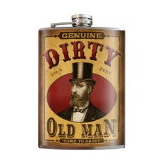 """Dirty Old Man"" Flask by Trixie & Milo #InkedShop #flask #booze"