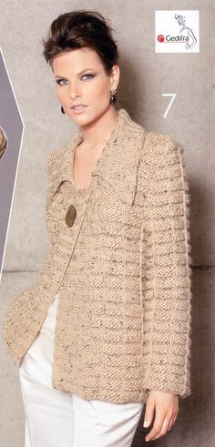 This Pin was discovered by Cec Knitting Designs, Knitting Patterns, Crochet Patterns, Crochet Cardigan, Knit Crochet, Linen Stitch, Knitwear Fashion, How To Purl Knit, Crochet Woman